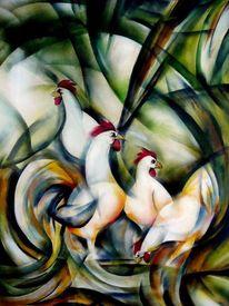 Huhn, Malerei