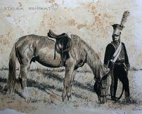 Belle alliance, Zeichnung, Lützower, Reenactment