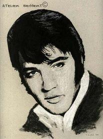 Felsen, Elvis presley, King, Zeichnungen