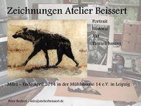 Akt, Tierzeichnung, Ausstellung, Atelier