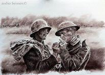Militär, Ww1, Kamerad, Zeichnung