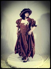 Kleid, Kostüm, Stehen, Frau