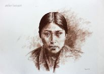 Indianer, Portrait, Reservat, Usa