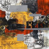 Paperwork, Abstrakt, Zahlen, Collage