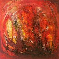 Acrylmalerei, Abstrakt, Malerei, Hölle
