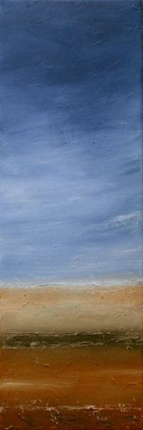 Landschaft, Braun, Weiß, Blau