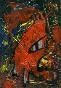 Gefräßig, Teufel, Acrylmalerei, Silvester