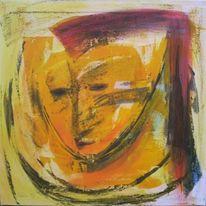 Gesicht, Gelb, Rot, Maske