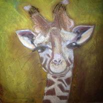 Giraffe, Pastellmalerei, Acrylmalerei, Malerei
