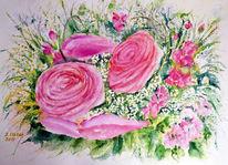 Aquarellmalerei, Stillleben, Blumenmalerei, Aquarell