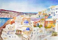 Architektur, Griechenland, Santorini, Landschaft