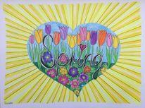 Blumen, Frühling, Fantasie, Gekritzel