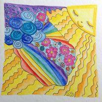 Regen, Sonne, Fantasie, Zeichnung