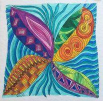 Zeichnung gekritzel, Zeichnung, Aquarellstifte, Fantasie