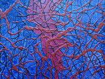 Struktur, Acrylmalerei, Tafelmalerei, Rot