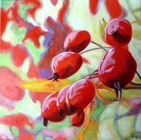 Früchte, Hagebutte, Rot, Pflanzen