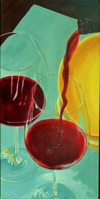 Glas, Grau, Rotwein, Rot