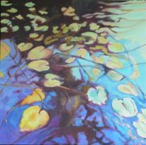 Seerosen, Teich, Wasser, Grün