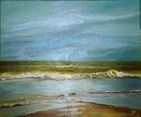 Himmel, Sylt, Welle, Malerei