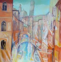 Venedig, Boot, Kanal, Brücke