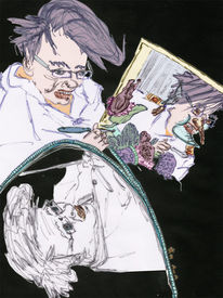 Selbstsicht, Mansiehtsichselbstimmeranders, Portrait, Digitale kunst
