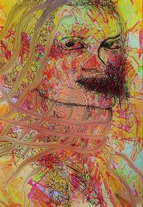 Fusion, Digital, Fotografie, Portrait