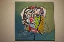 Portrait, Ölmalerei, Junge, Menschen