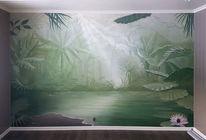 Fresko, Interieur, Landschaft, Raum