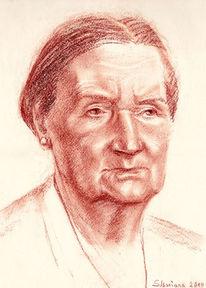 Encaustic, Frauen, Zeichnungen, Portrait