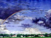 Malerei, Landschaft, Aquarellmalerei, Realismus