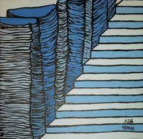 Stein, Felsen, Malerei, Treppe