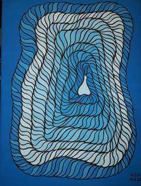 Zeit, Acrylmalerei, Malerei, Tunnel