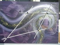 Acrylmalerei, Abstrakte kunst, Amethyst, Abstrakt