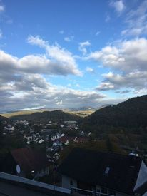 Sonnenaufgang, Berge, Dach, Himmel