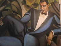 Portrait, Dekadent, Homage lempicka, Ölmalerei