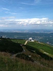 Berge, Weiß, Blick, Himmel
