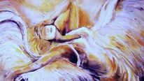 Malerei, Herbst, Engel