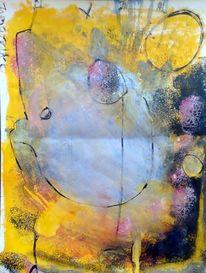 Mai, Abstrakt, Malerei, Moment