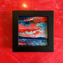 Ölmalerei, Landschaft, Spachteltechnik, Malerei