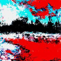 Spachteltechnik, Abstrakt, Ölmalerei, Malerei