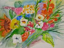 Bunt, Sommerblumen, Blumenstrauß, Sommer