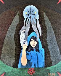 Walpurgisnacht, Hexe, Eule, Monster