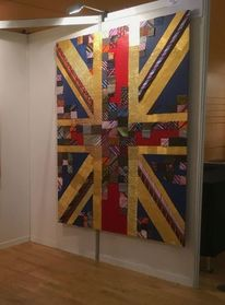 Art exhibition 2019, Union flag, Union flag 2019, Weltkugel