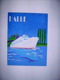 Plakatkunst, Halle saale, Malerei, Halle