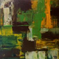 Rakeltechnik, Acrylmalerei, Strukturpaste, Abstrakte kunst