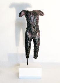 Terracotta modelliert, Figur, Torso, Männlich