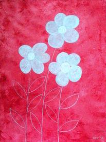 Malerei, Mischtechnik, Acrylmalerei, Blumen