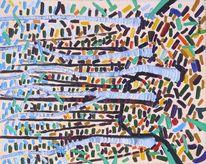 Waldrand, Birken, Expressionismus, Farben