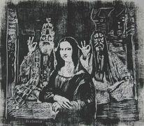 Portrait, Kunsthandwerk, Holzschnitt, Druck