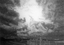 Wolken, Pointillismus, Punkt, Solveig gaida